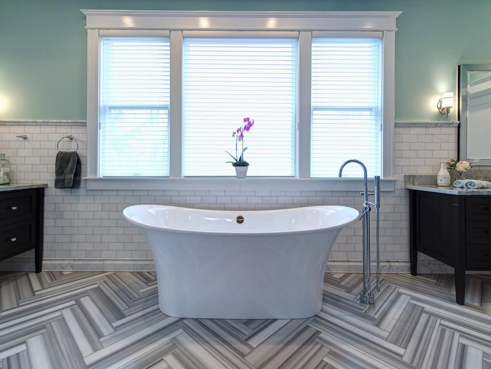 Amazing 15 Simply Chic Bathroom Tile Design Ideas | HGTV tiling bathroom walls ideas