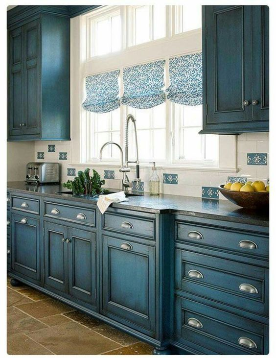 Amazing 23 Gorgeous Blue Kitchen Cabinet Ideas Paint Colors For Cabinets