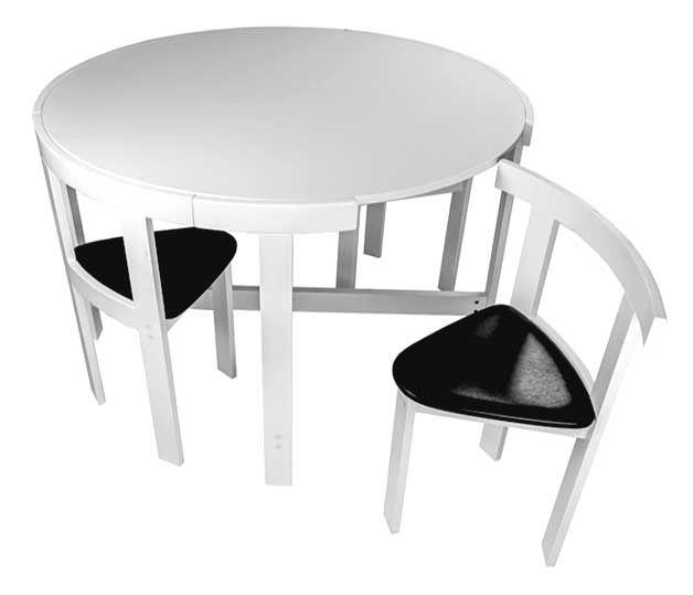 Amazing 3) Sweet little dining table for four. table-space-saving space saving dining table