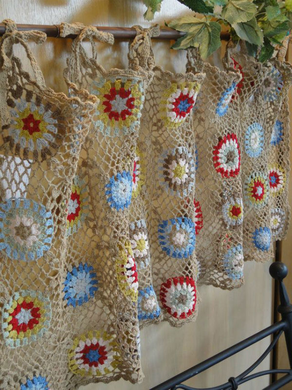 Amazing 4 crochet kitchen curtains