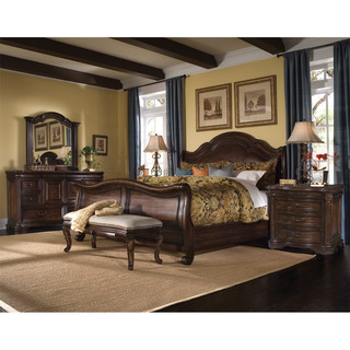 Amazing A.R.T. Furniture Coronado 5-piece King-size Leather Sleigh Bedroom Set by  A.R.T. king size sleigh bedroom sets