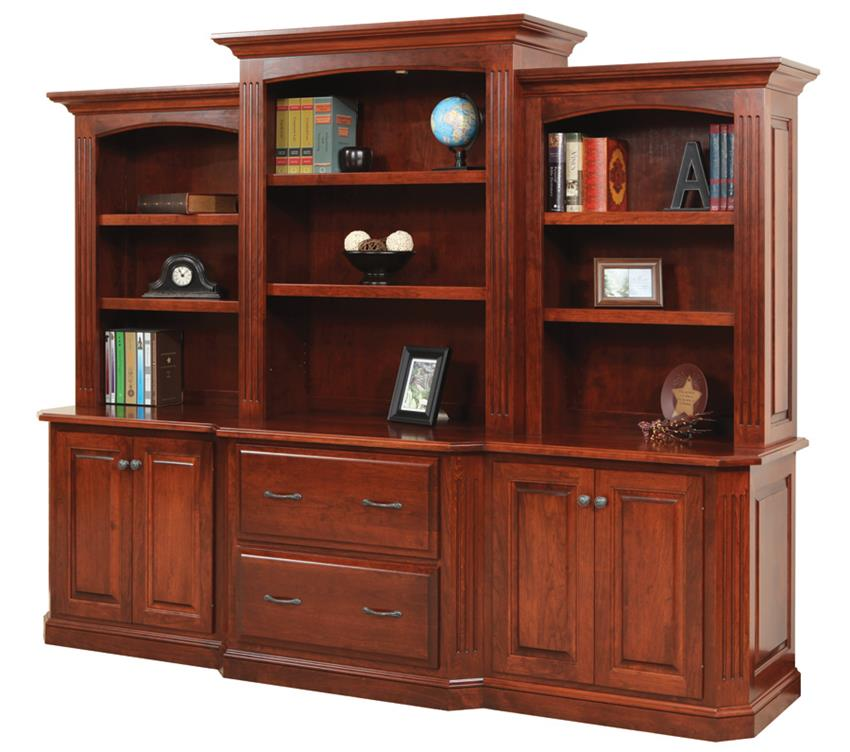 Amazing Amish Buckingham Office Lateral File Cabinet, Credenza and Optional  Bookcase Top office credenza with file drawers