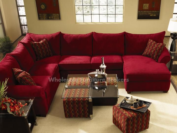 Bring home a red sofa today!