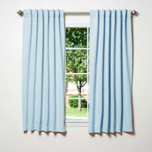 Amazing Baby Nursery Decor Blue Blackout Curtains For Short White