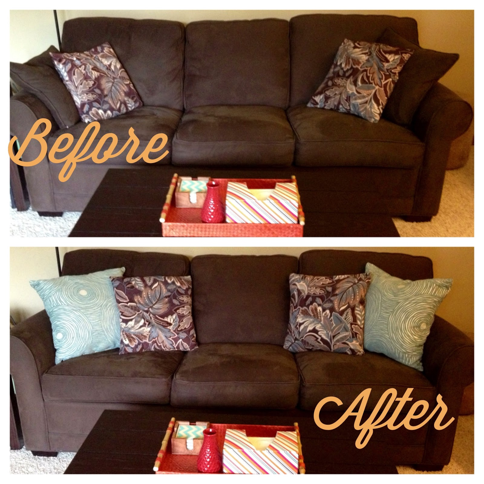 Amazing Before Last Summer My Brown Couch Got Two Patterned Throw Pillows . accent pillows for sofa