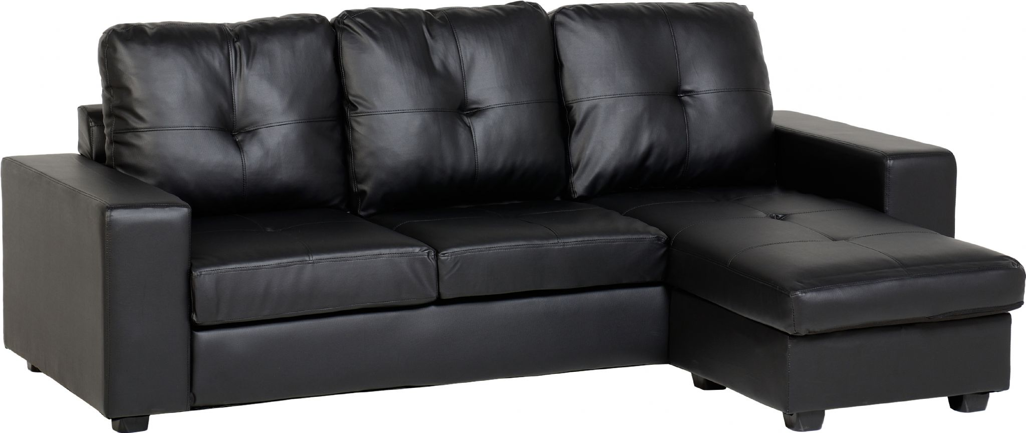 Amazing Benson Black Leather Corner Sofa black faux leather corner sofa