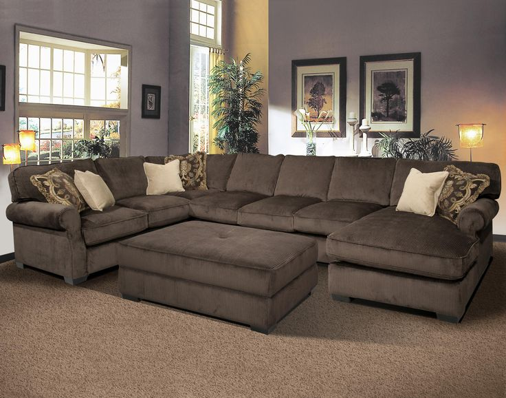 Amazing BIG AND COMFY Grand Island Large, 7 Seat Sectional Sofa with Right Side large sectional sofas