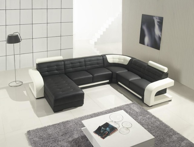 Amazing Black Leather Sectional Sofa with Chaise modern-living-room modern leather sectional sofa : modern sectional with chaise - Sectionals, Sofas & Couches