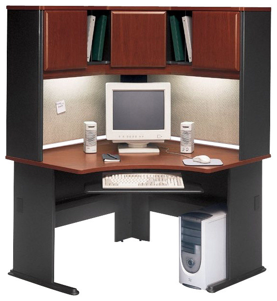 Amazing Bush Series A 48 corner computer desk with hutch
