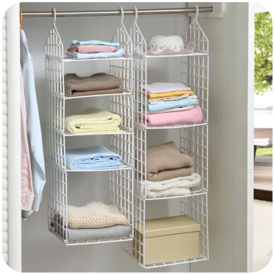 Amazing Creative Home Closet Organizer Plastic Folding Storage Shelving Hook  Storage Hanging plastic racks for clothes