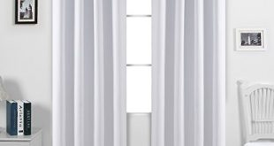 Amazing Deconovo Solid Color Blackout Curtains Room Darkening Curtains Grommet  Curtains Insulated white blackout curtains