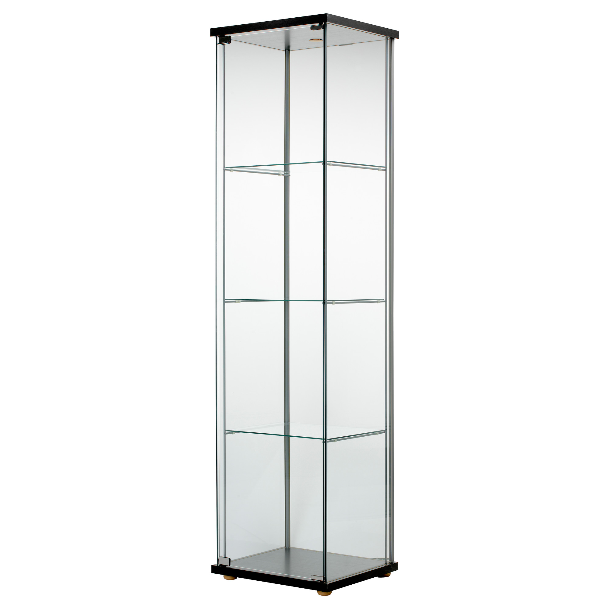 Amazing DETOLF Glass-door cabinet - black-brown - IKEA shelving units with glass doors