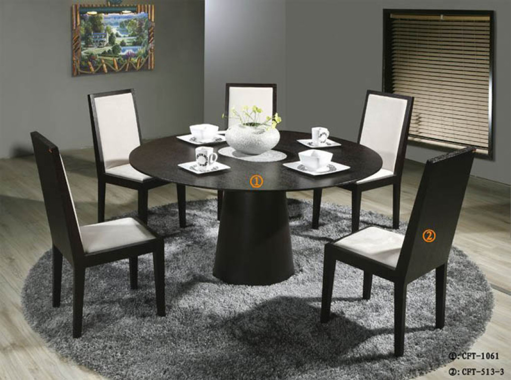 Amazing Dining Room Round Dining Table Sets Round Dining Table Sets Modern With Modern modern round dining table set
