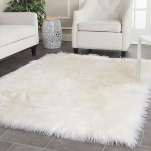 Amazing Fss115a white fluffy carpet