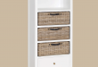 Amazing gorgeous tall white bookshelves on simone tall bookcase 2 drawers 3 baskets tall bookcase with drawers