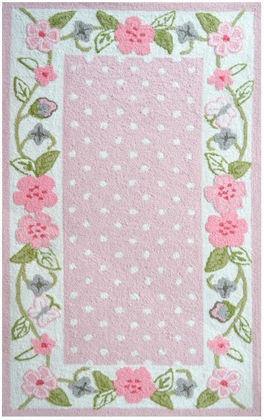Amazing Home u003e Color u003e Pink u003e Rug Market Kids Floral 74083 Garden pink floral area rug