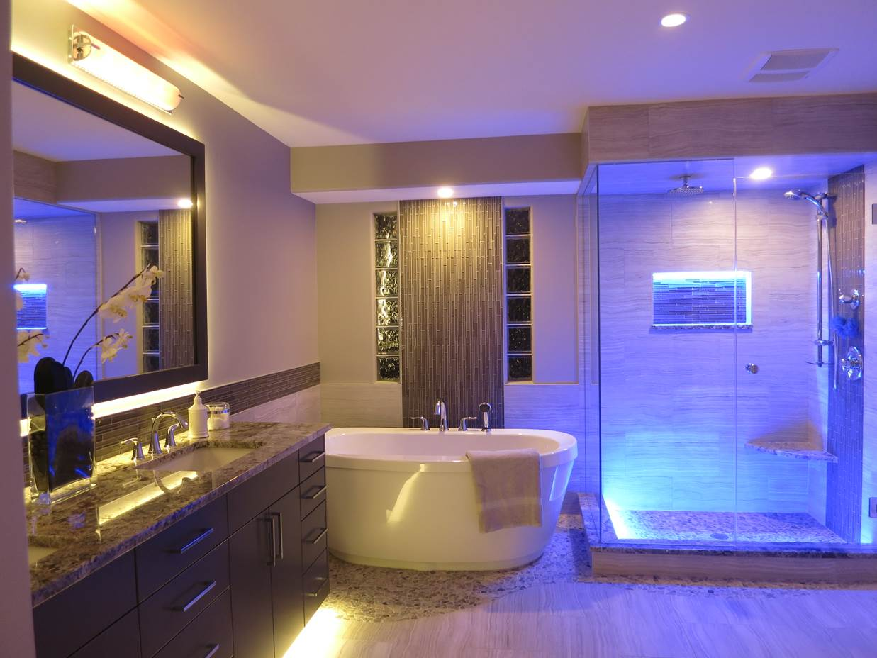 Amazing Image of: led bathroom lighting led bathroom lights