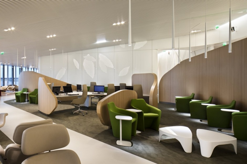 Amazing ... Interior Air France Business Lounge Design No Duchaufour Simple house lounge modern design