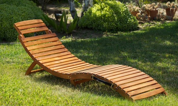 Amazing Lisbon Outdoor Wood Chaise Lounge: $89.99 for a Noble House Home Lisbon wood chaise lounge outdoor