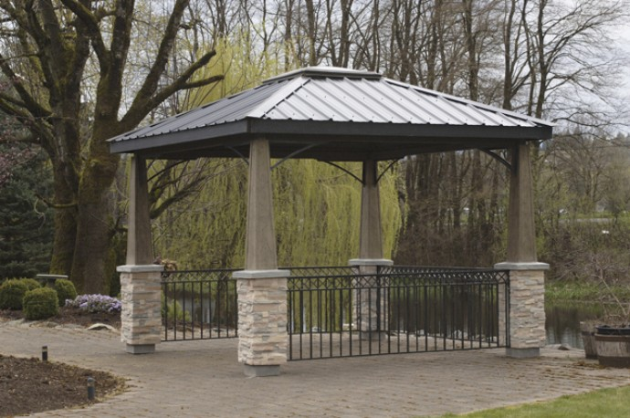 Incroyable Amazing Metal Roofed Pergola Metal Patio Gazebo