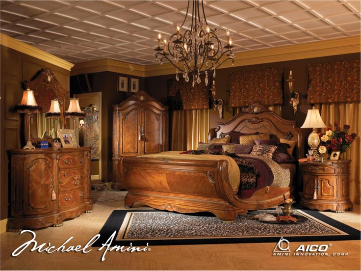Amazing Michael Amini Cortina Luxury Bedroom Furniture Set Honey Walnut Finish by luxury bedroom furniture