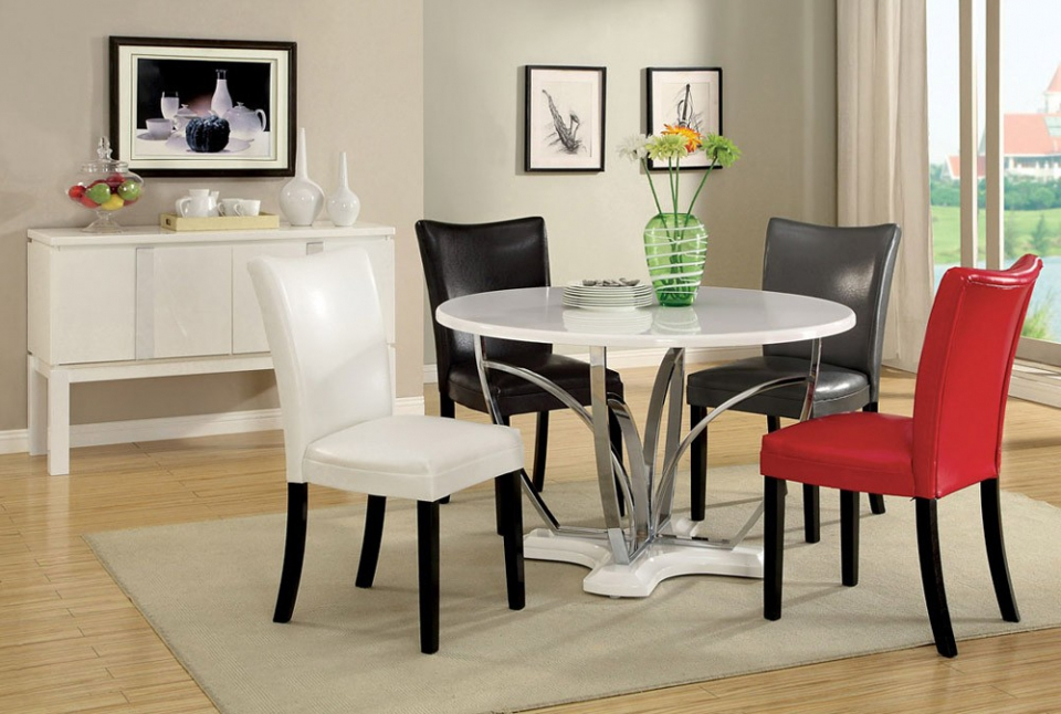 Amazing ... Modern Round Dining Table Set ... modern round dining table set
