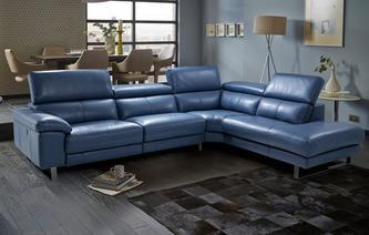 Amazing multibuysaving Salone Option C Left Arm Facing Single Electric Recliner  Corner Sofa leather corner recliner sofa