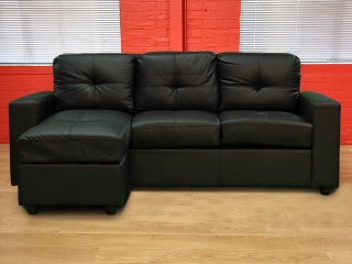 Amazing Nevada Black Faux Leather Sofa black faux leather corner sofa