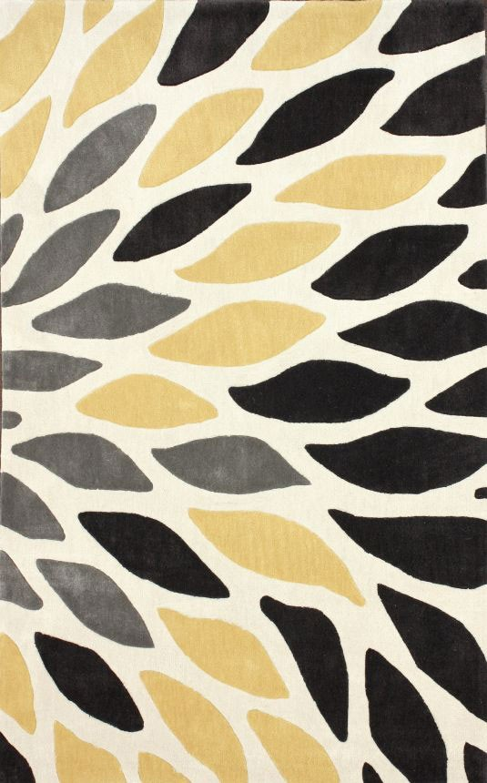 Amazing New Contemporary Yellow ACR197 Area Rug Carpet Hand Tufted Polyester Durable yellow area rug