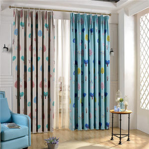 Amazing Nursery Room Curtains Of Tree Patterns For Kids Bedroom Blackout