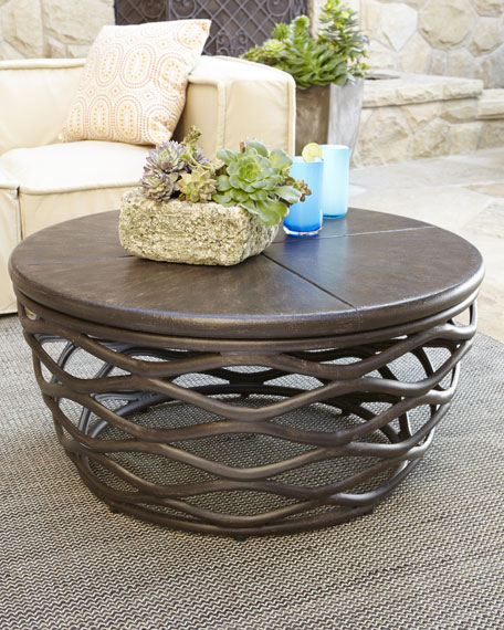 Amazing Outdoor Round Coffee Table Outdoor Furniture Coffee Table ... - Outdoor round outdoor coffee table