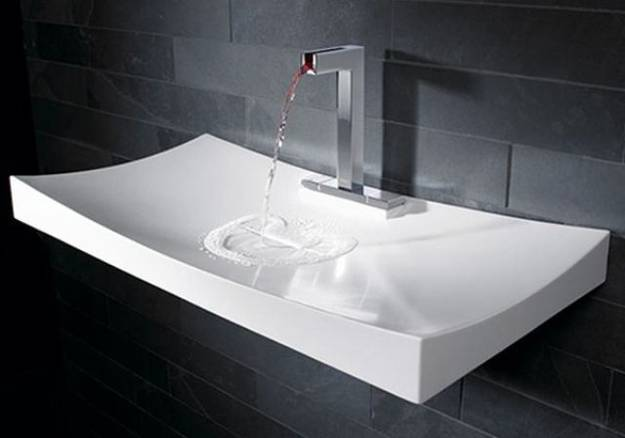 Amazing Porcelain bathroom sink in rectangular shape modern bathroom sinks