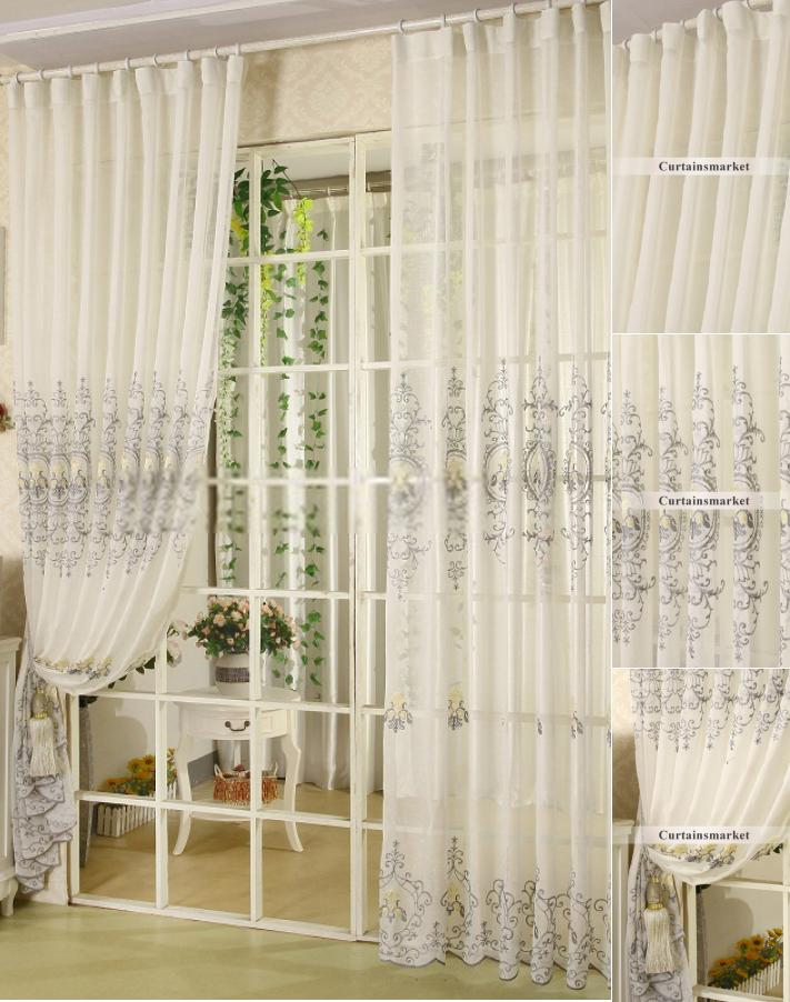 Amazing Retro Style Well Made Gray sheer curtains retro style curtains