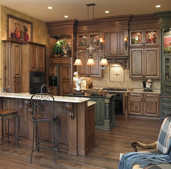 Amazing rustic hickory kitchen cabinets on pinterest | Found on  kitchencabinetsdesigns.net rustic hickory kitchen cabinets