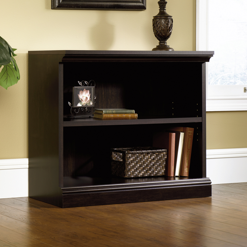 Amazing Sauder Select Estate Black 2 Shelf Bookcase sauder 2 shelf bookcase