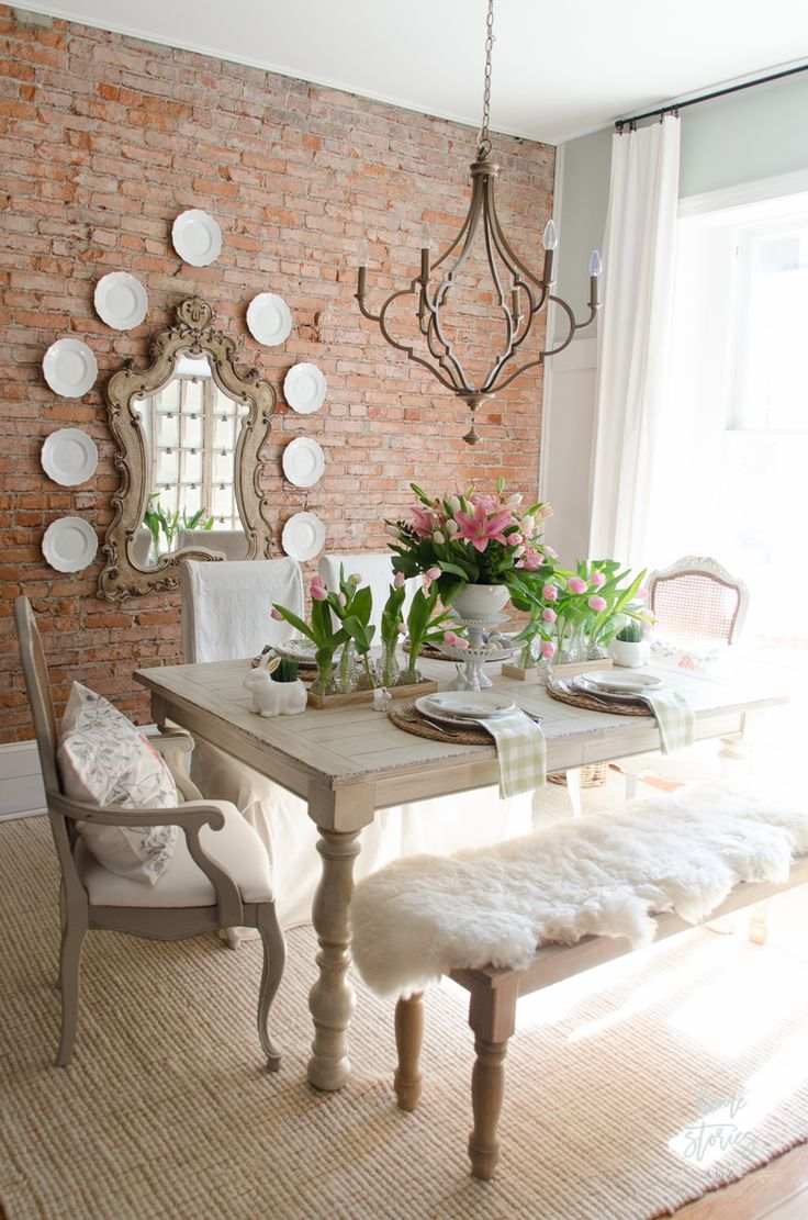 Amazing Spring Decorating Ideas Spring Home Tour. Dining Room ... dining room decor