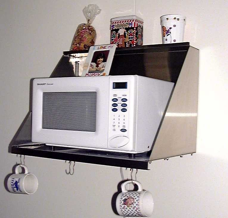 Amazing Stainless Craft Stainless Steel Microwave, an easy way to have more counter wall mounted microwave shelf