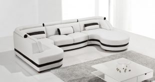 Amazing T8000 - Modern Leather Sectional Sofa - Modern Sofas - Living Room modern leather sectional sofa
