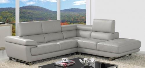 Amazing Valencia Corner Taupe Grey H8587RHF corner leather sofa