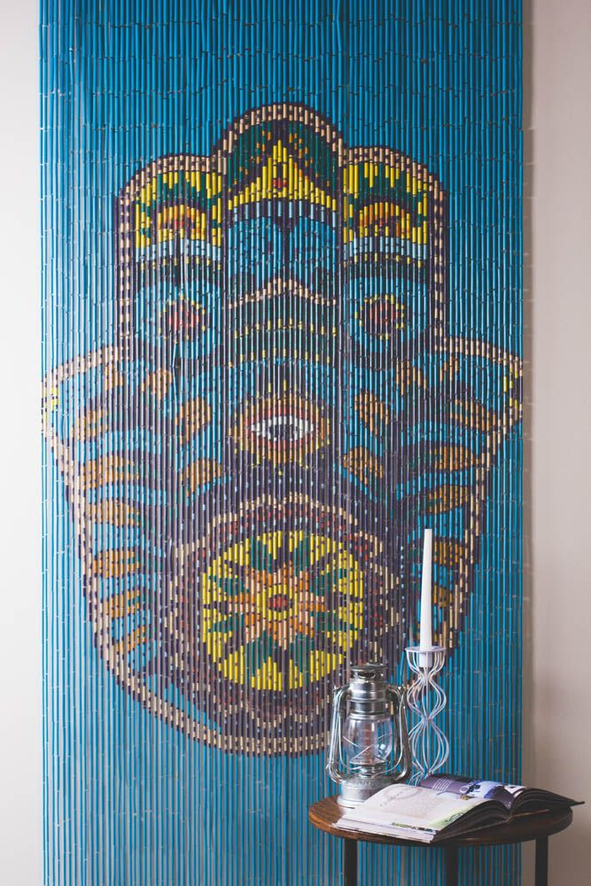 Amazing Walls, doorways, or just anywhere, these hand painted door curtains can  give beaded curtains for closet doors
