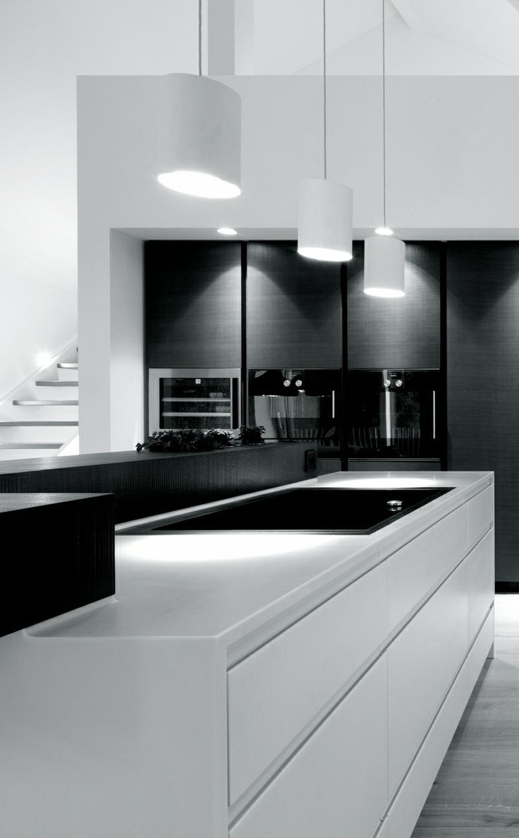 Modern Kitchen White black and white modern kitchen ideas