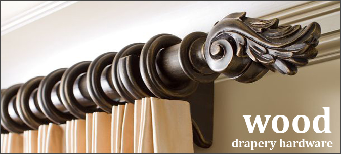 Amazing Wooden Drapery Hardware and Curtain Rods wood curtain rods
