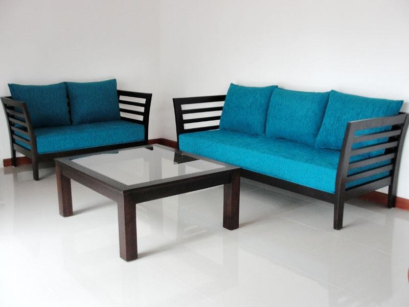 Amazing wooden Sofa set 3+2 More simple wooden sofa set designs