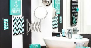 Cozy Chevron and Anchor bathroom theme anchor bathroom decor