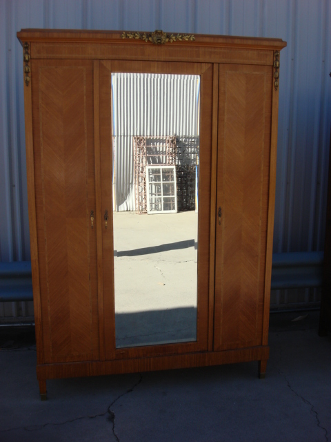 Stunning Antique Armoire Antique Wardrobe French Antique Furniture antique wardrobe with mirror