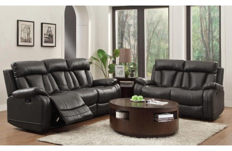 Awesome Ackerman Leather Recliner Sofa black leather reclining sofa