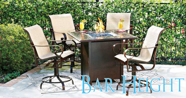 Awesome Bar Height bar height patio set