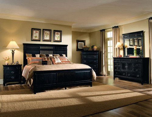Awesome Black Wood Bedroom Sets. Contemporary Master Bedroom Decorating Ideas ... master bedroom furniture designs