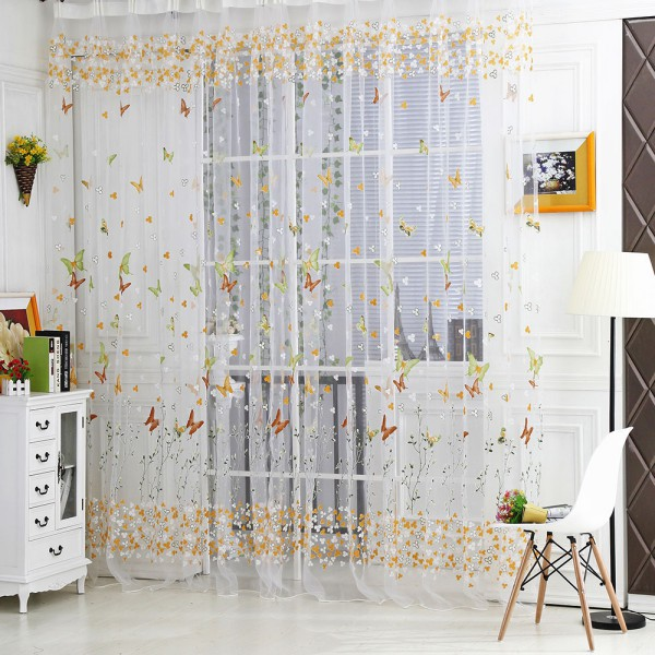 Awesome Butterfly-Tulle-Voile-Window-Curtain-Door-Room-Balcony- sheer butterfly curtains