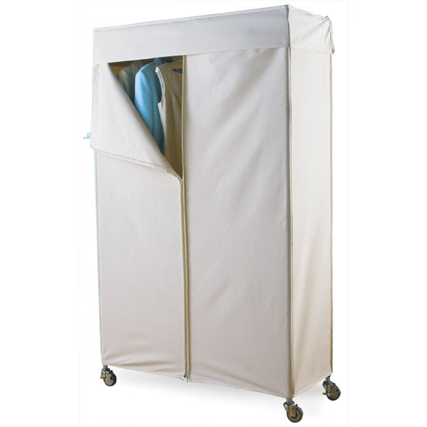 Awesome Large Cotton Canvas Cover portable wardrobe with cover